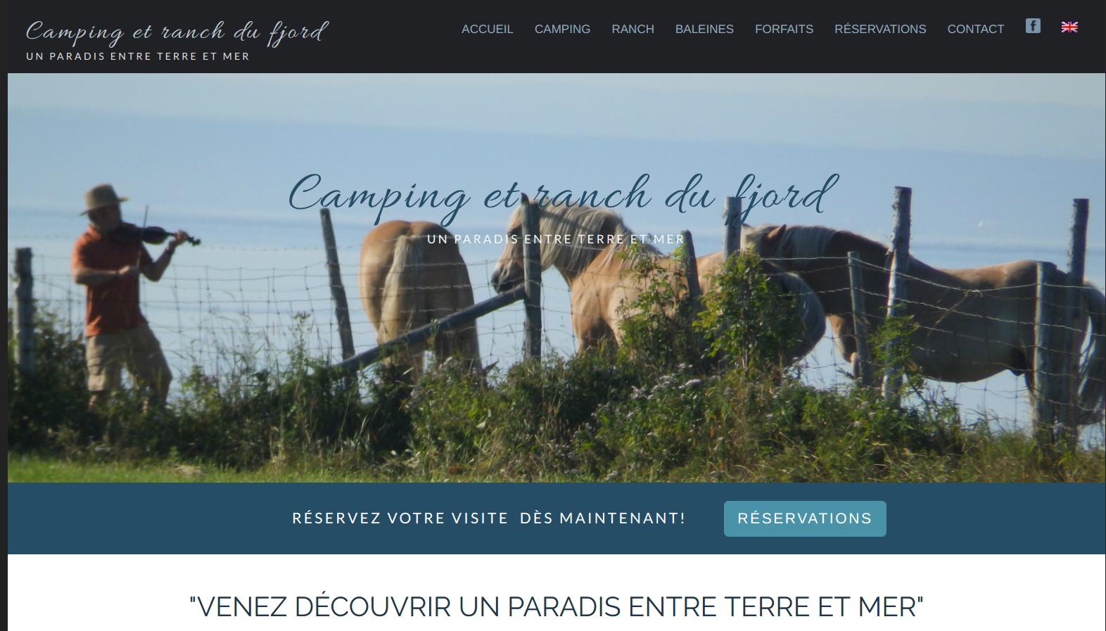capture d'écran du site campingetranchdufjord.com