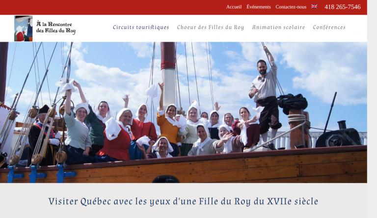 Capture du site fillesduroy.com