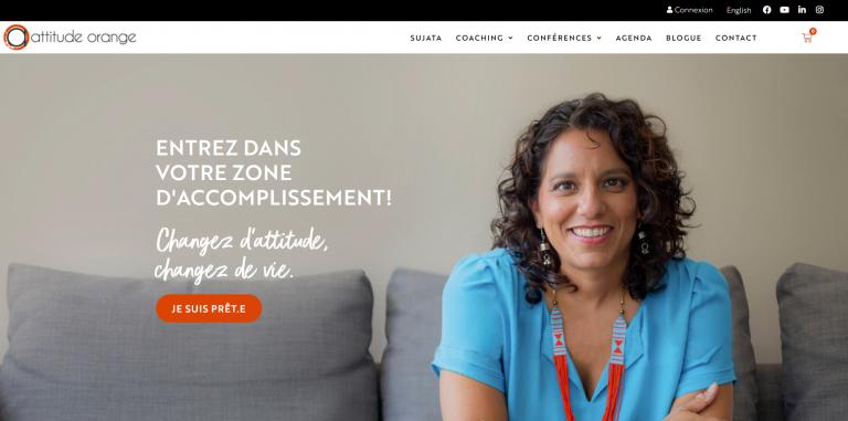 Capture du site web Attitude Orange