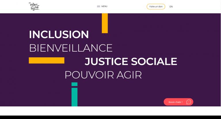 Capture du site web Interligne